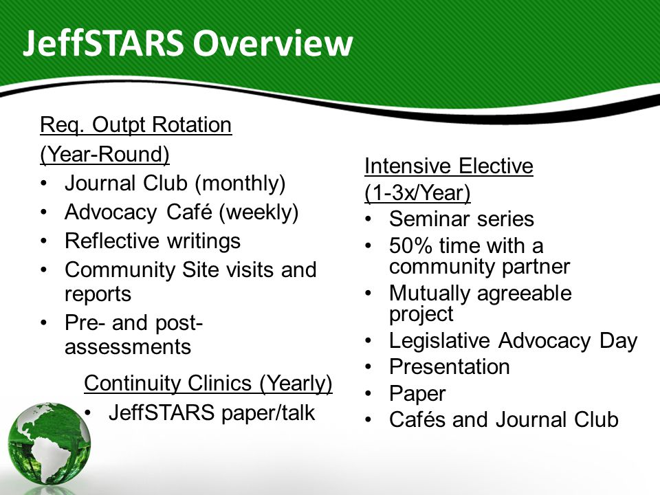 JeffSTARS Overview Req.