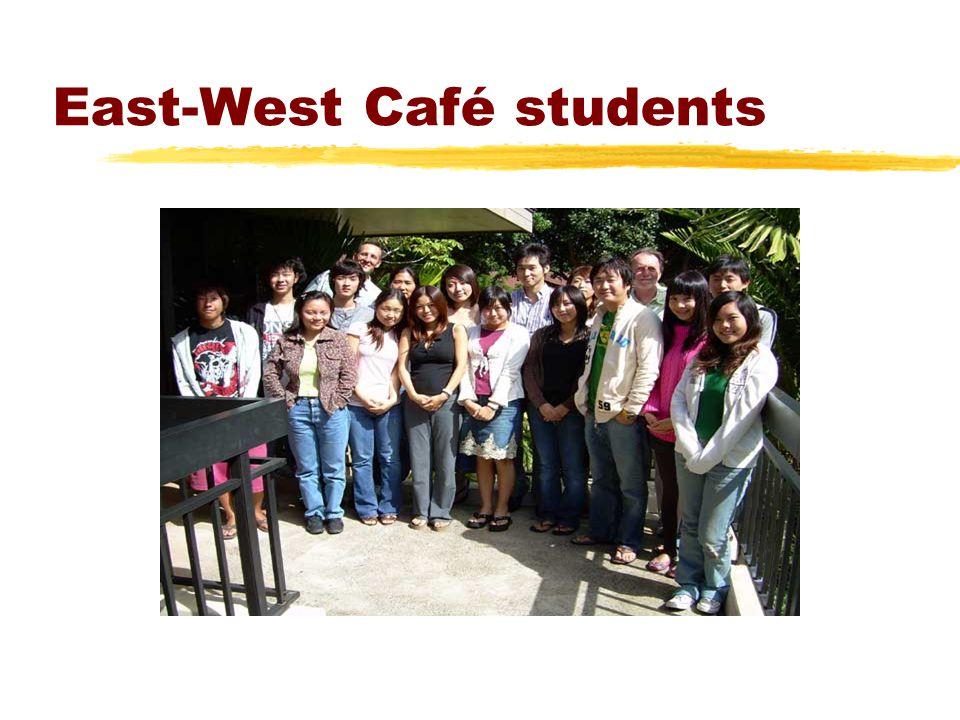 East-West Café students