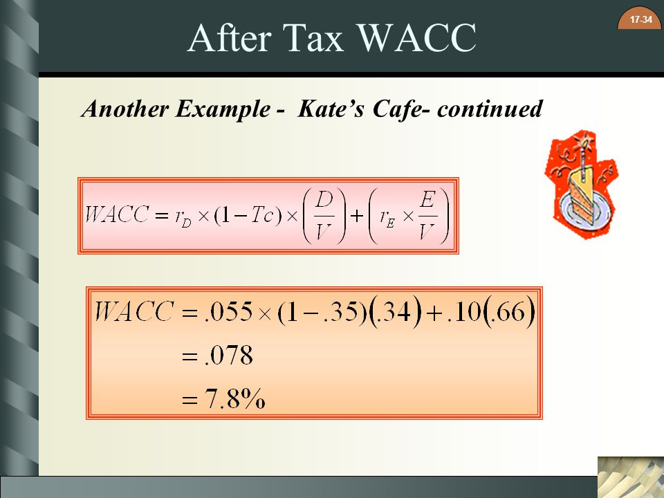 17-34 After Tax WACC Another Example - Kates Cafe- continued