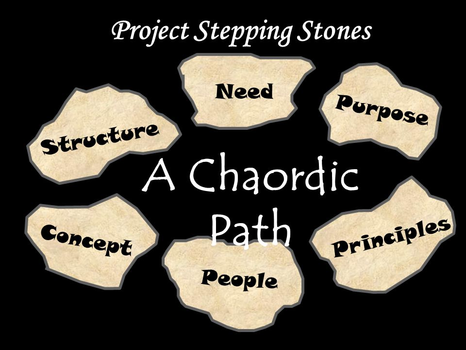 Need Purpose Project Stepping Stones Principles People Concept Structure A Chaordic Path