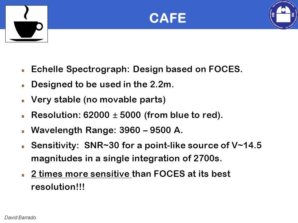 David Barrado CAFE Echelle Spectrograph: Design based on FOCES.