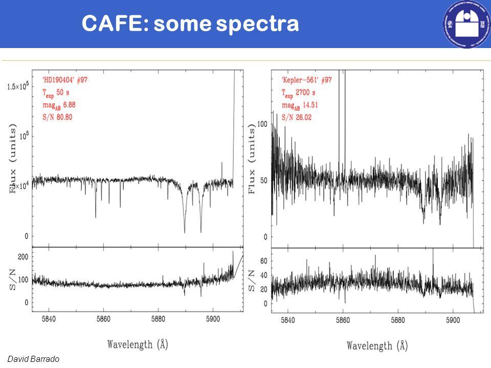David Barrado CAFE: some spectra