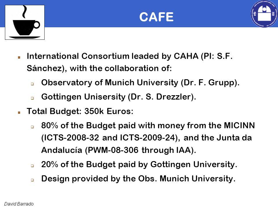 David Barrado CAFE International Consortium leaded by CAHA (PI: S.F.