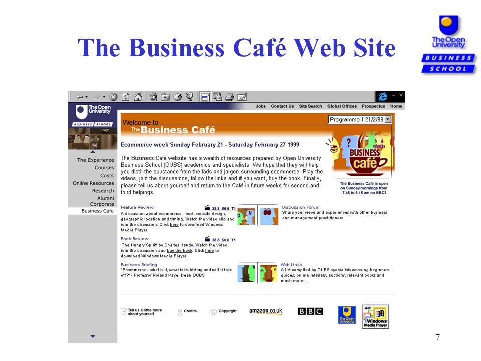 7 The Business Café Web Site
