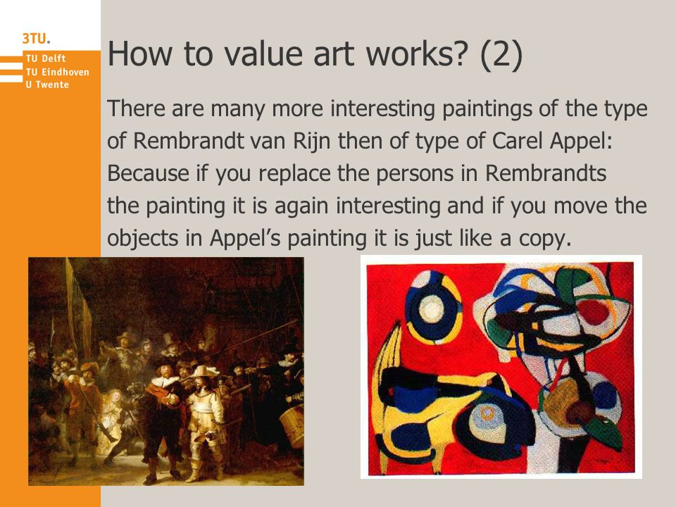 How to value art works.