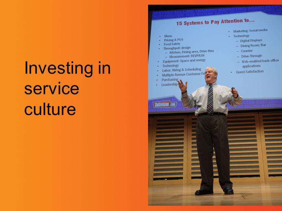 Investing in service culture
