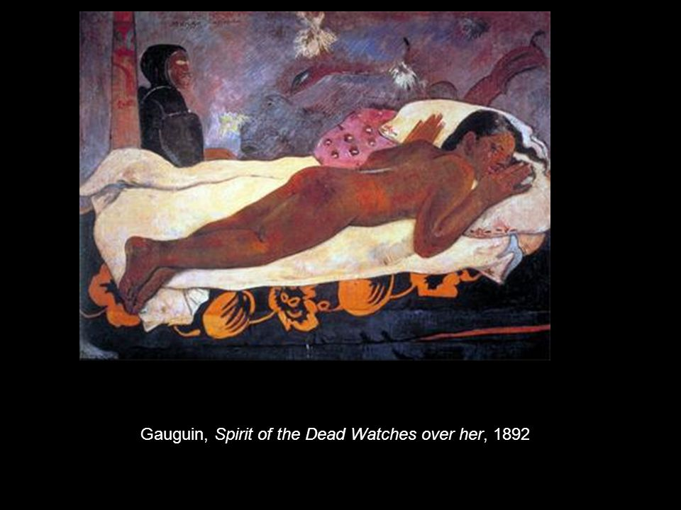 Gauguin, Spirit of the Dead Watches over her, 1892