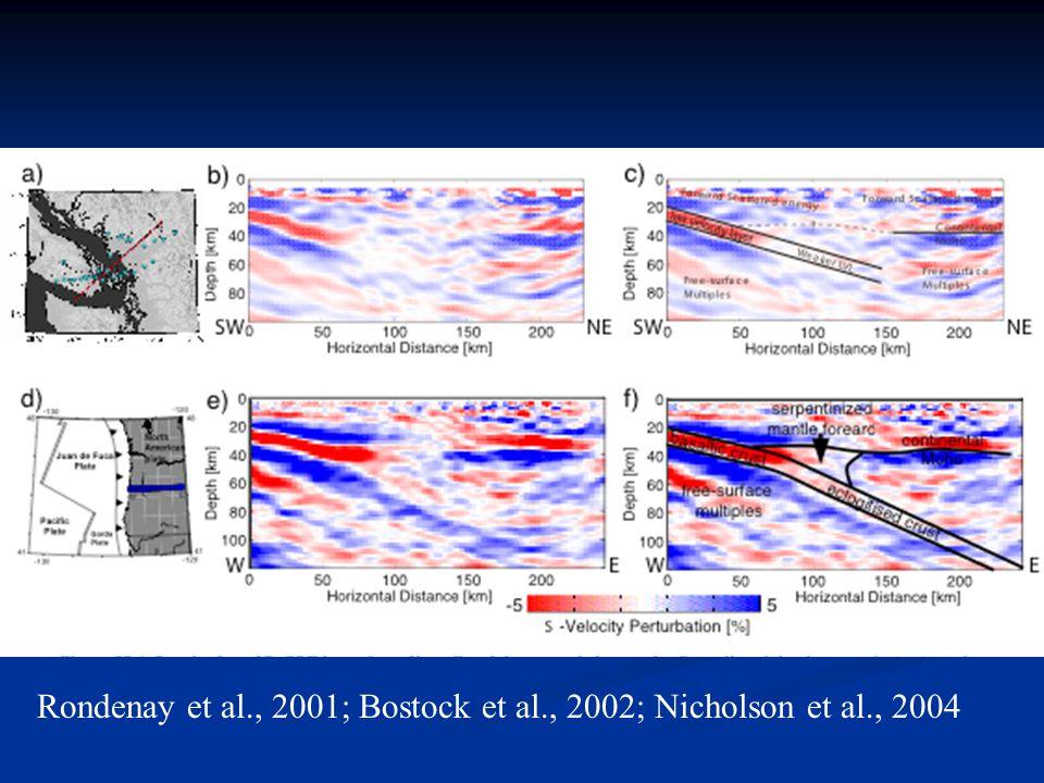 Rondenay et al., 2001; Bostock et al., 2002; Nicholson et al., 2004