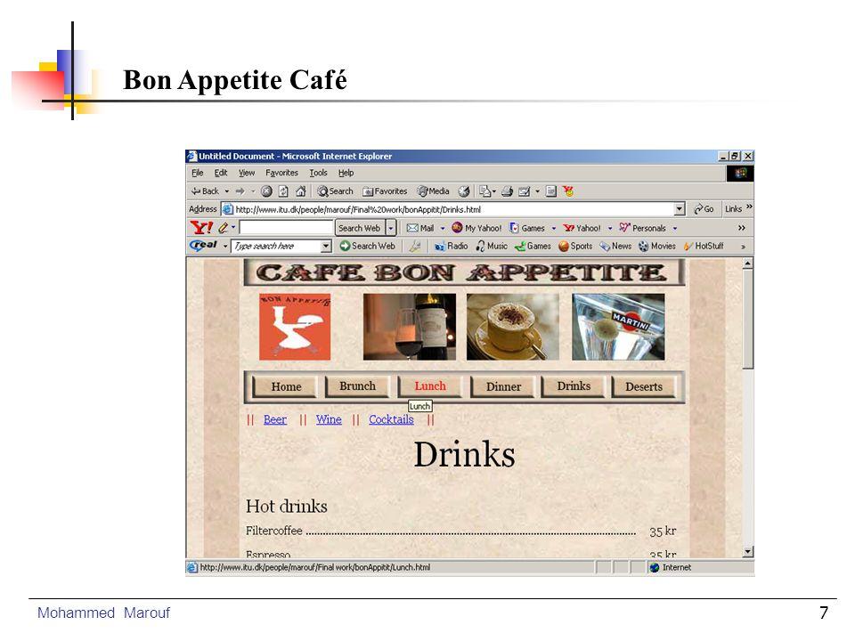 8 Home Page Mohammed Marouf Bon Appetite Café