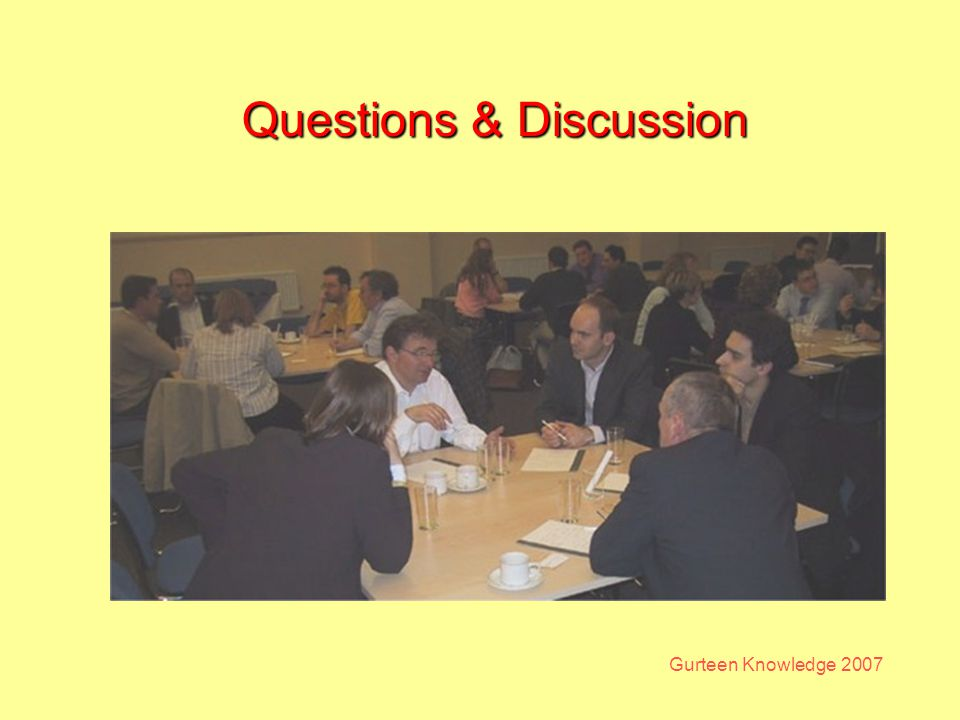 Gurteen Knowledge 2007 Questions & Discussion