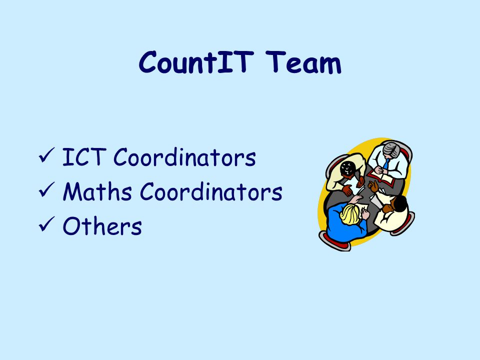 CountIT Team ICT Coordinators Maths Coordinators Others