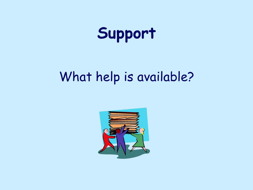 Support What help is available
