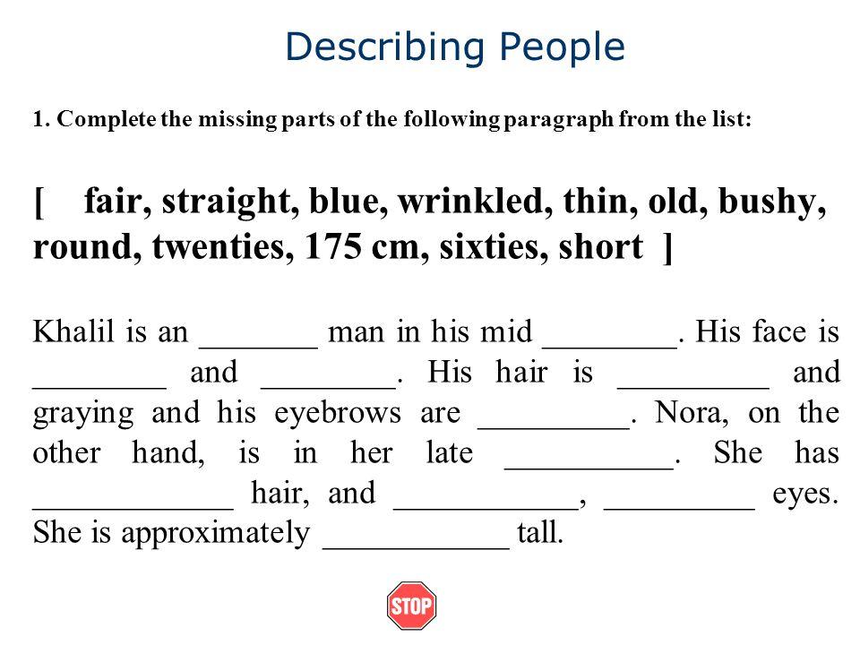 Describing People 1.