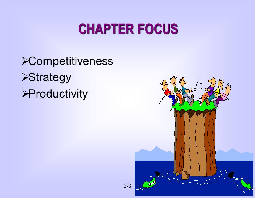 2-3 CHAPTER FOCUS Competitiveness Strategy Productivity
