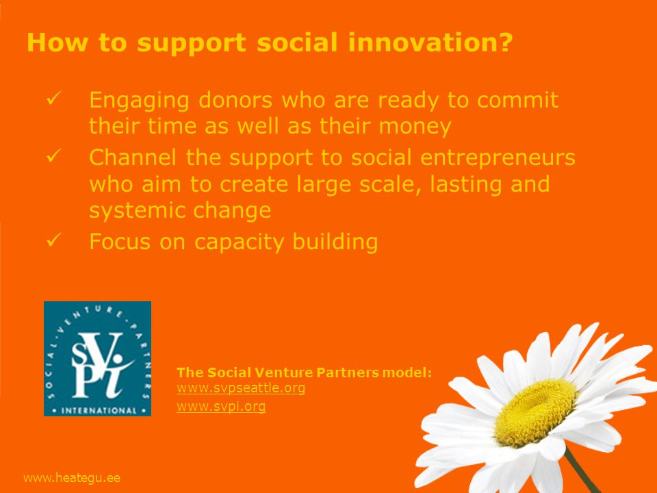 How to support social innovation.