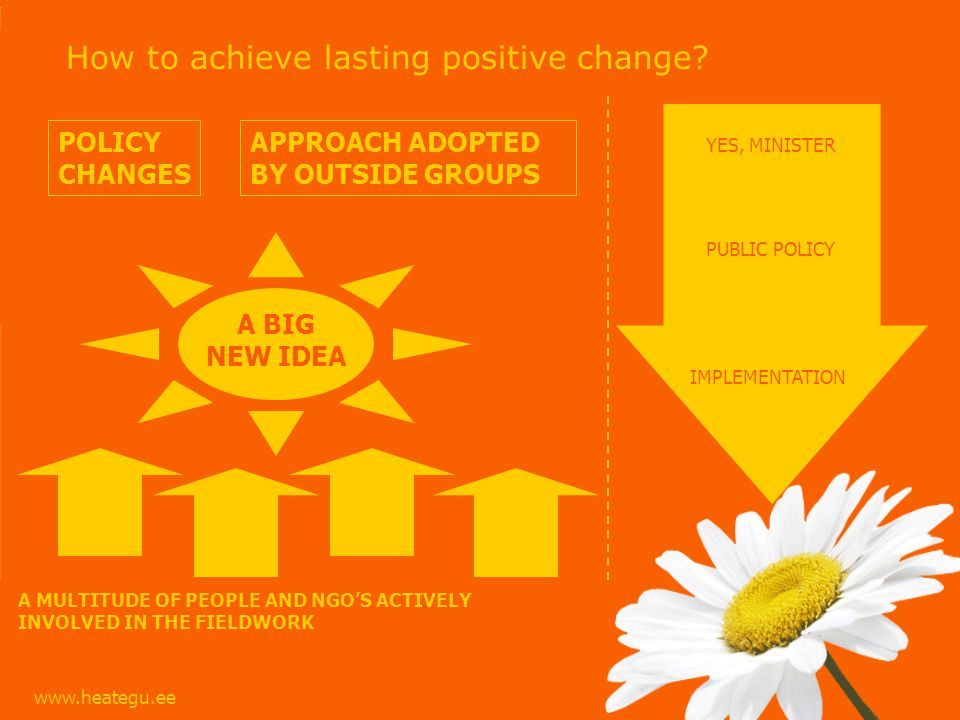 www.heategu.ee How to achieve lasting positive change.