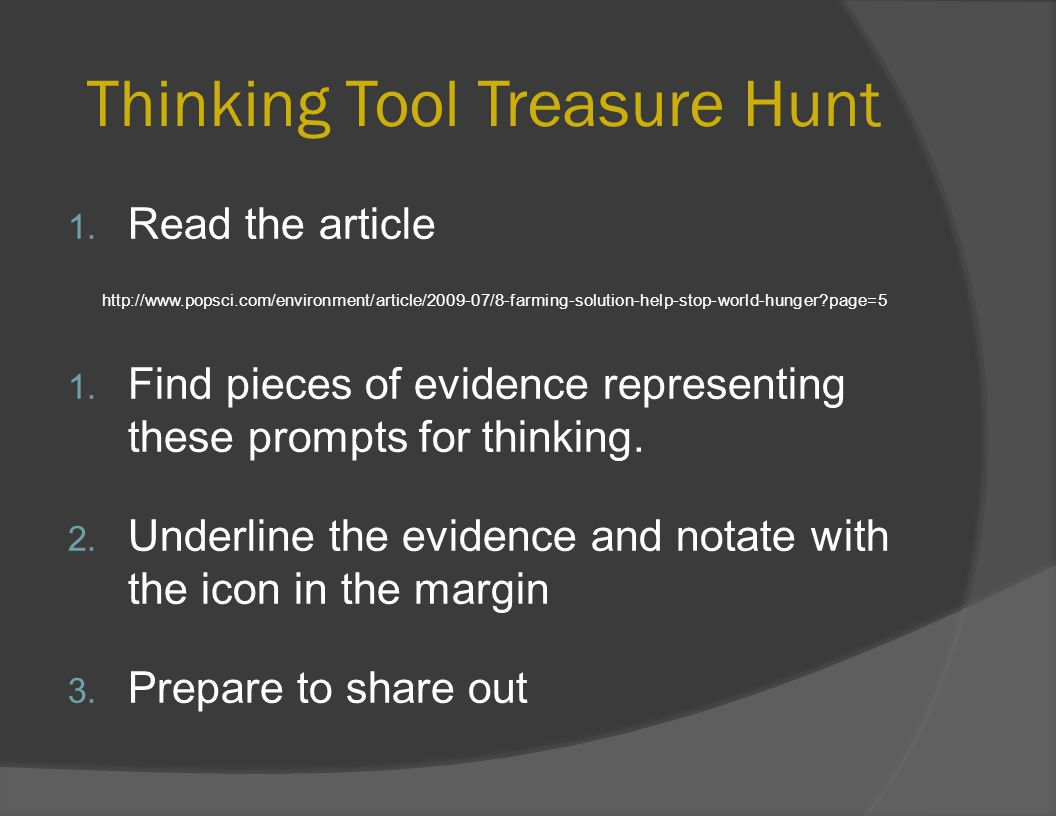 Thinking Tool Treasure Hunt 1.