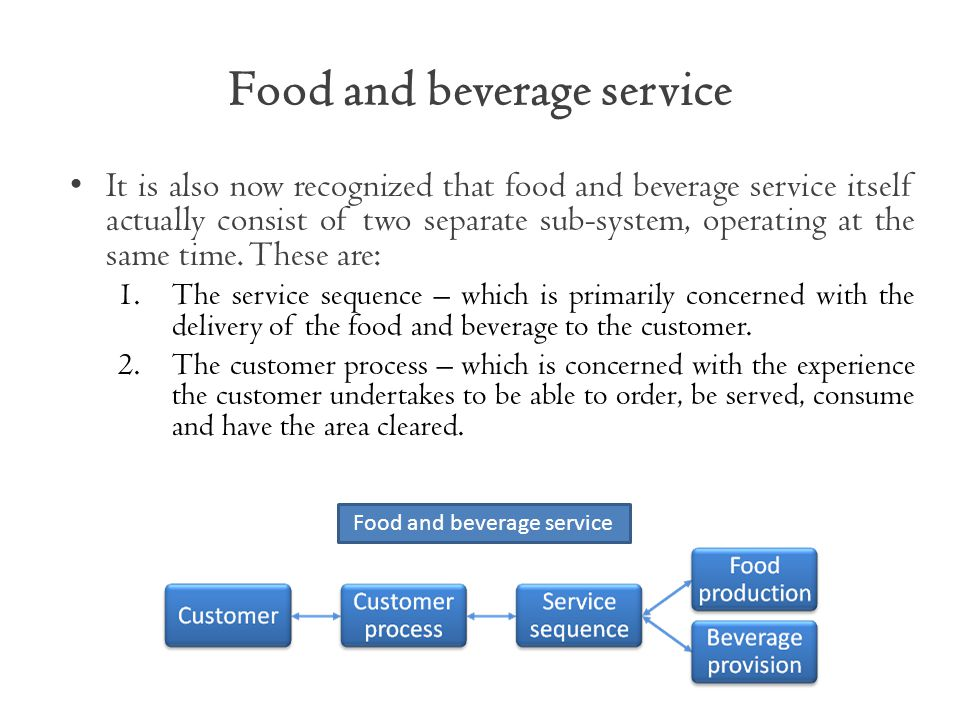 discuss the characteristics of food production and food beverage service systems Does your food and beverage supply chain allow you to plan for profit learn the 8 f&b production characteristics that lead to safety stock and service.