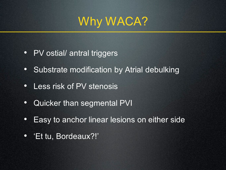 Why WACA.