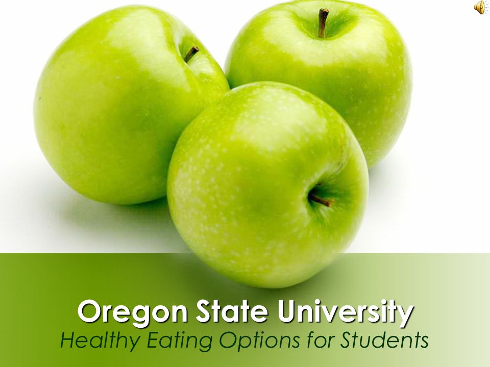 Oregon State University Healthy Eating Options for Students