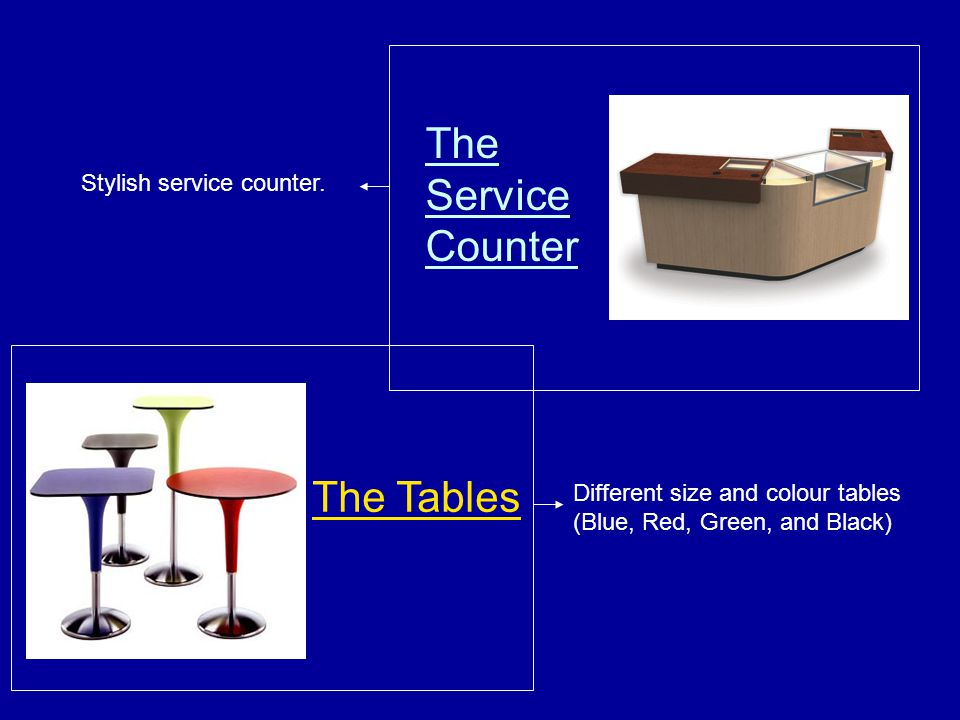 The Service Counter The Tables Stylish service counter.