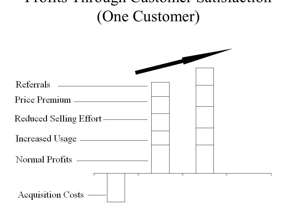 Profits Through Customer Satisfaction (One Customer)