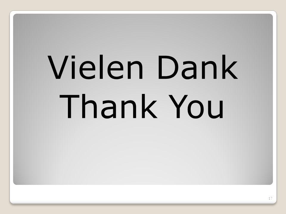Vielen Dank Thank You 17