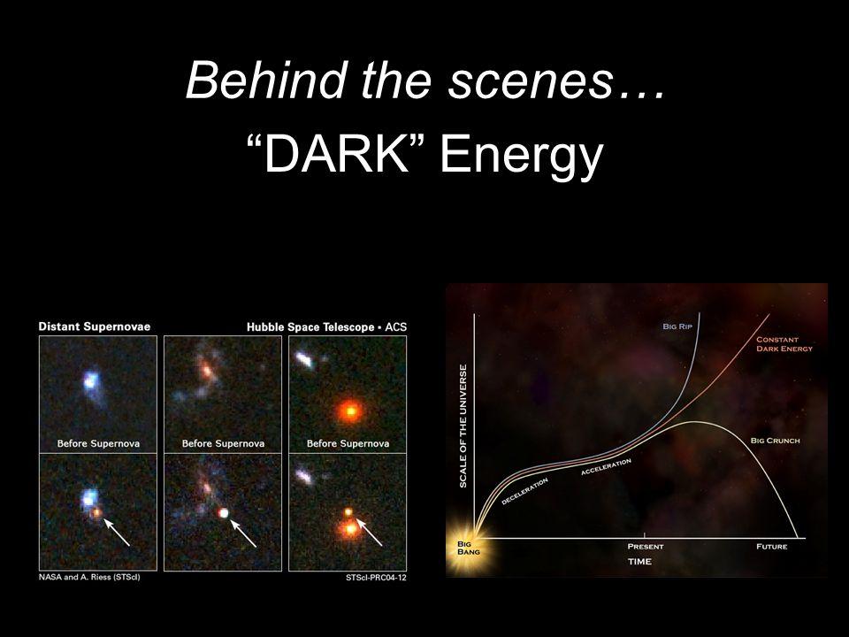 DARK Energy Behind the scenes…