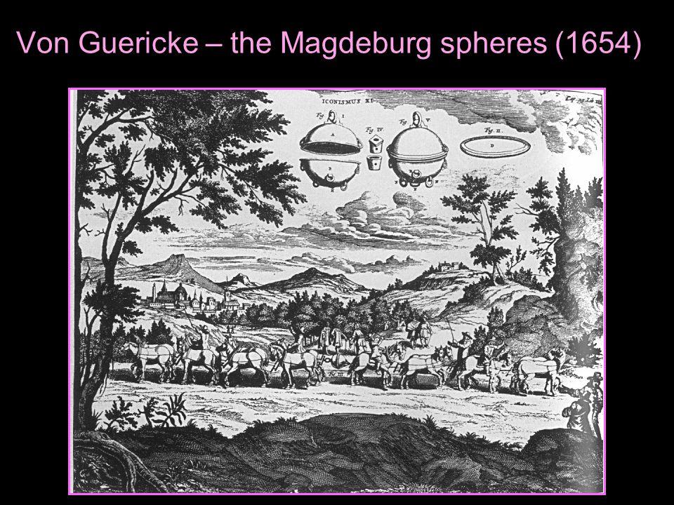 Von Guericke – the Magdeburg spheres (1654)