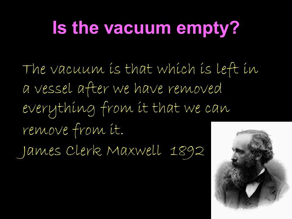 Is the vacuum empty.
