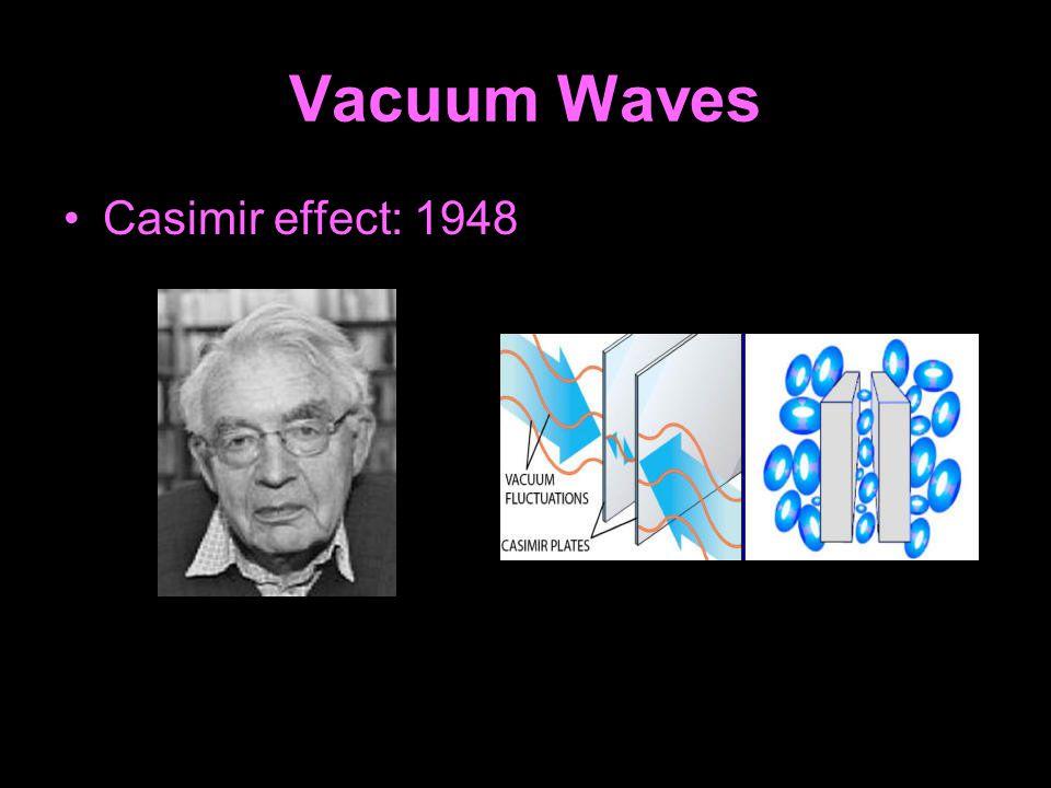 Vacuum Waves Casimir effect: 1948
