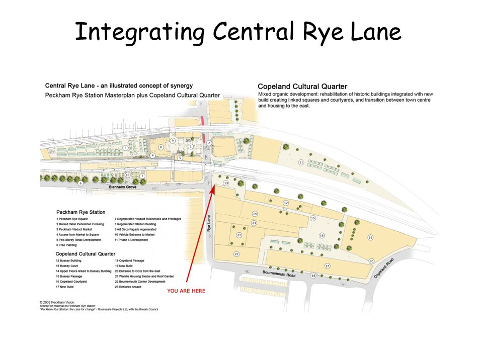 Integrating Central Rye Lane