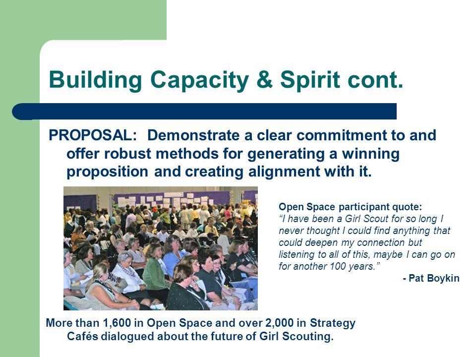 Building Capacity & Spirit cont.