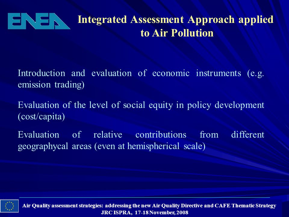 Introduction and evaluation of economic instruments (e.g.