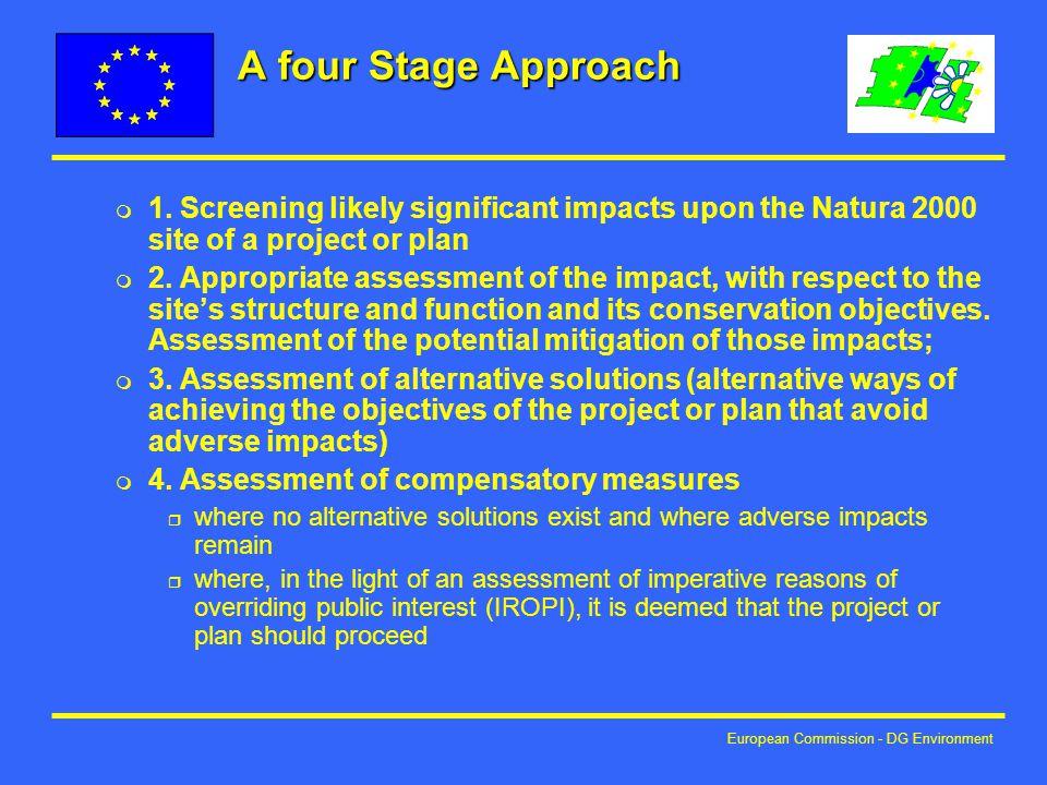 European Commission - DG Environment A four Stage Approach m 1.