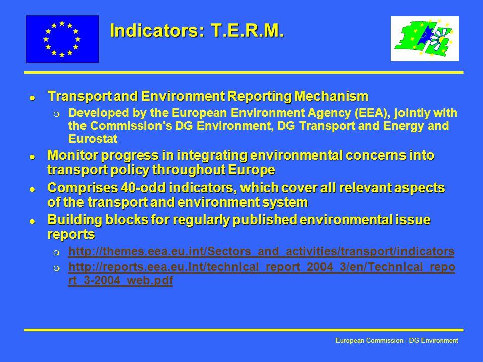 European Commission - DG Environment Indicators: T.E.R.M.
