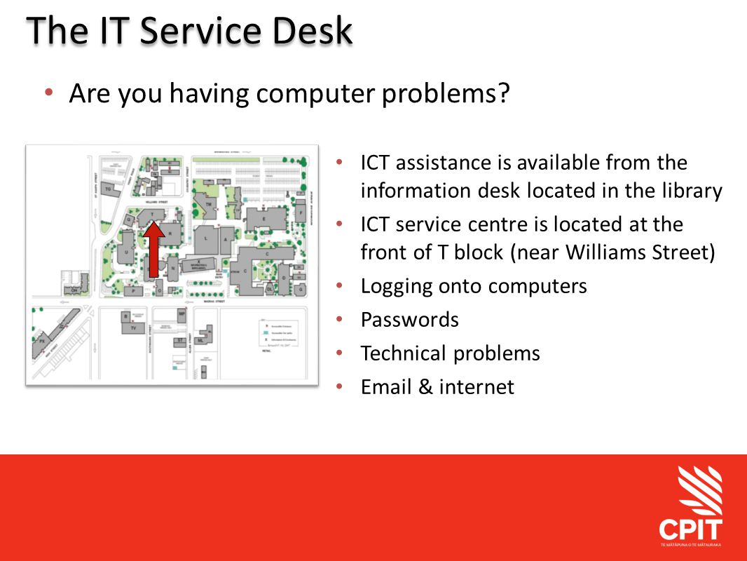 Student Services The IT Service Desk Are you having computer problems.
