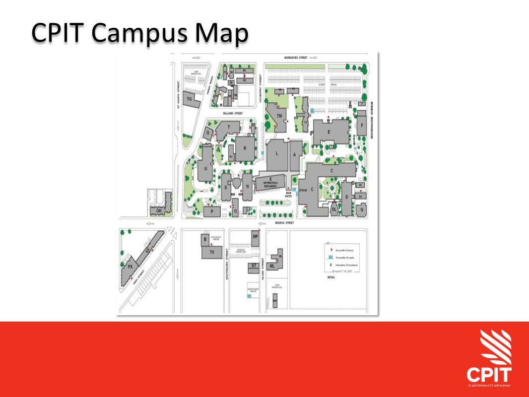 Student Services CPIT Campus Map