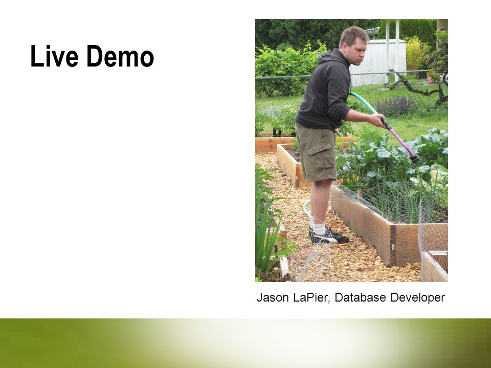 Live Demo Jason LaPier, Database Developer