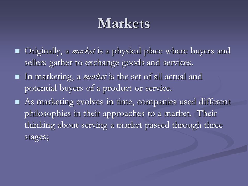 Mass marketing: here, the seller mass produces, mass distributes, and mass promotes one product to all buyers.