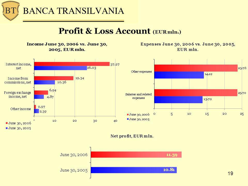 19 Profit & Loss Account (EUR mln.)