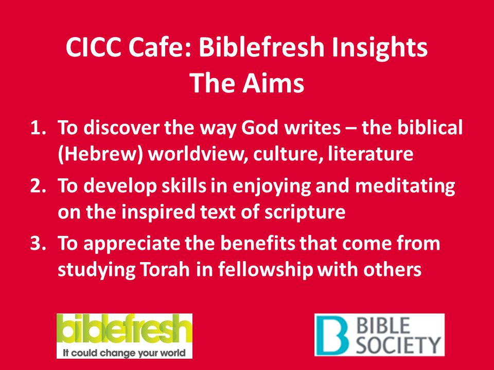CICC Cafe: Biblefresh Insights The Sessions 1.Glory to God – Speaking with tongues of angels.
