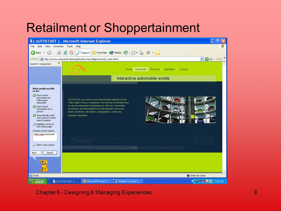 Retailment or Shoppertainment 8Chapter 6 - Designing & Managing Experiences