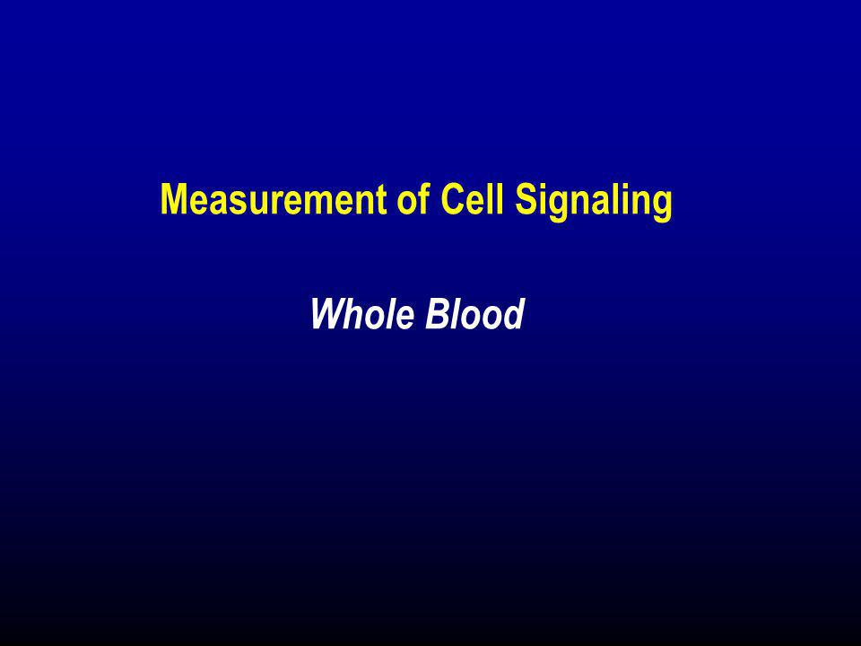 Measurement of Cell Signaling Whole Blood