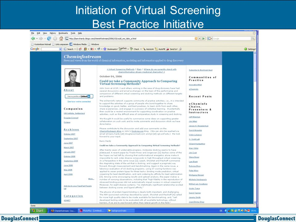 Initiation of Virtual Screening Best Practice Initiative