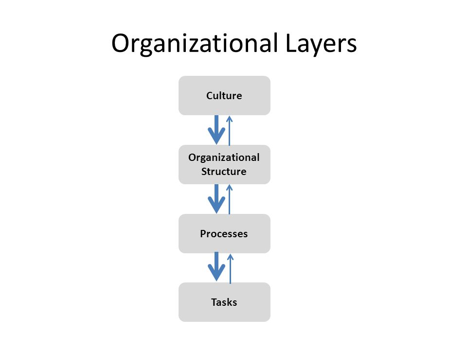 Tasks Organizational Structure Processes Culture Organizational Layers