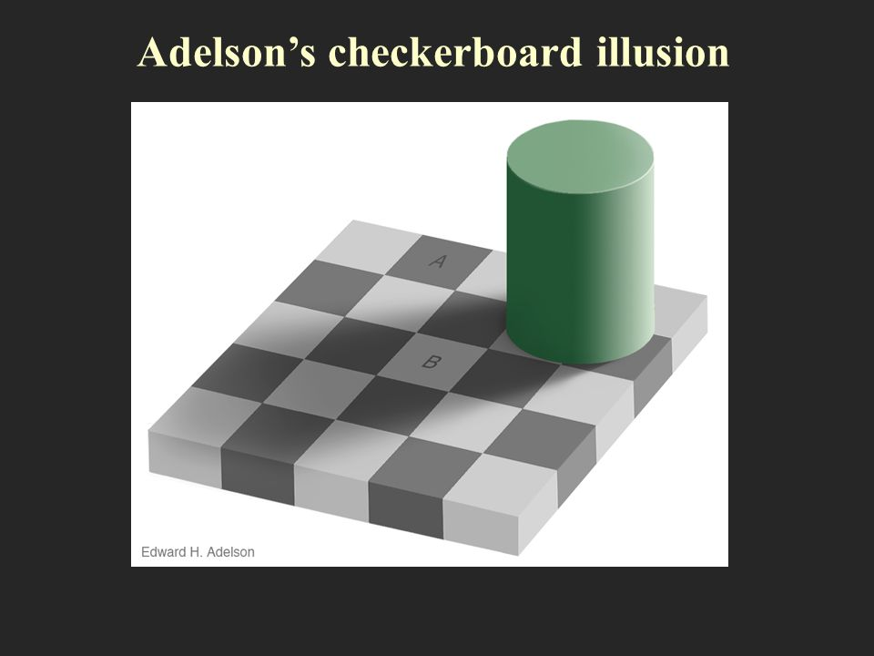 Adelsons checkerboard illusion