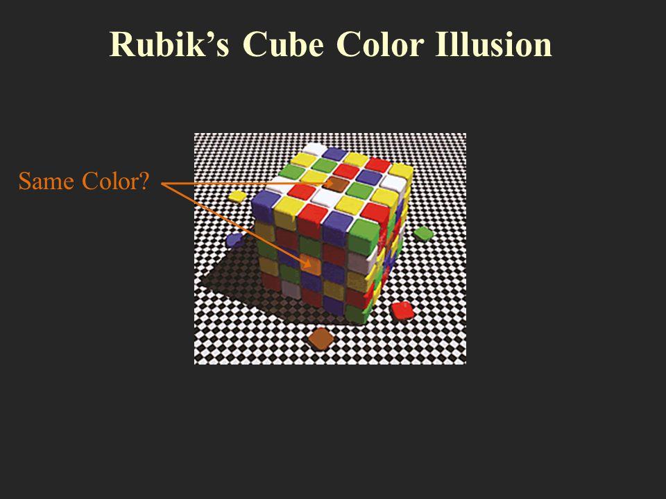 Rubiks Cube Color Illusion Same Color?