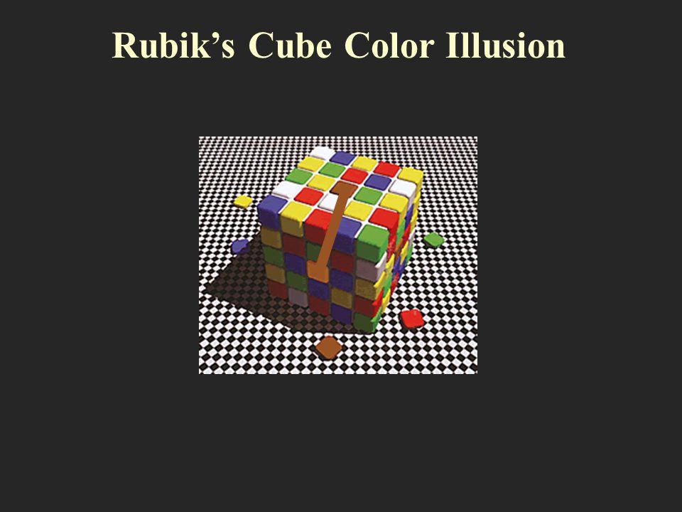Rubiks Cube Color Illusion