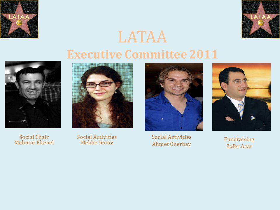 LATAA Executive Committee 2011 Social Chair Mahmut Ekenel Fundraising Zafer Acar Social Activities Melike Yersiz Social Activities Ahmet Onerbay